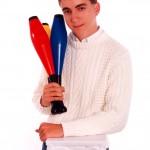 funny senior picture, juggler