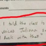 21 Awkward Notes Teachers Really Sent Home